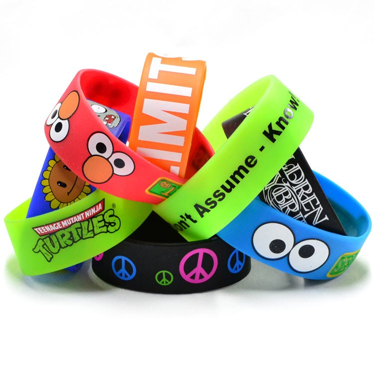 1 Printed Silicone Wristband