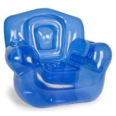 """Inflatable Chair, Blue - 41""""W x 38""""H x 35""""D"""