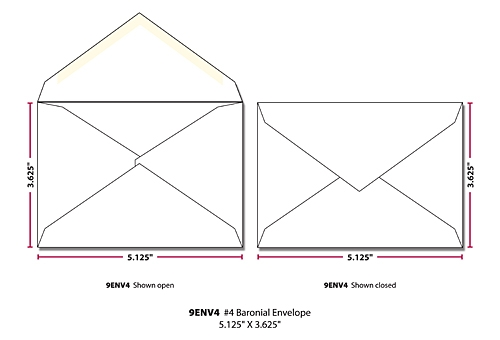 Envelope - 4 Printed White (5.125x3.625)