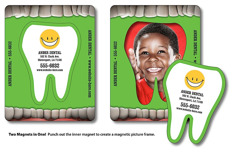 Magnet - Picture Frame Tooth Punch (3.5x4.5) - 25 Mil.