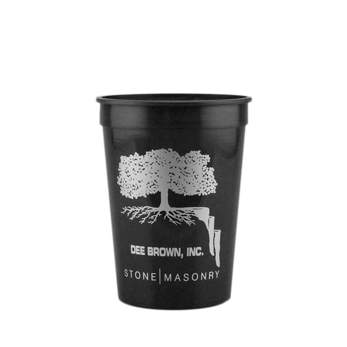 12 oz Stadium Cup - Black
