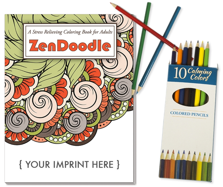 ADULT COLORING BOOK RELAX PACK - ZenDoodle Stress Relief Coloring ...