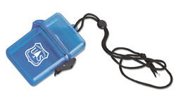 Plastic Container on a Rope or Lanyard