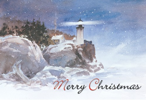 Winter Beacon Greeting Card