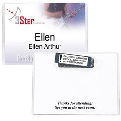 4 x 3 Preferred Vinyl Name Badge Holder, Magnet (Item # MH101M) - 4 x 3 Preferred Vinyl Name Badge Holder, Magnet (Item # MH101M)