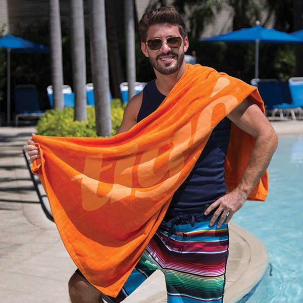 BT15 Diamond Collection Colored Beach Towels IMPRINTED
