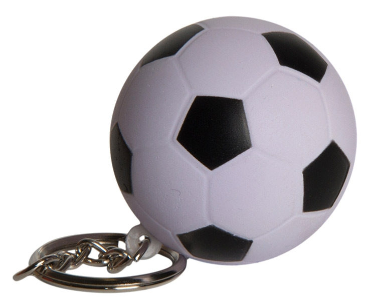 Soccer Ball Squeezies Keyring Stress Reliever