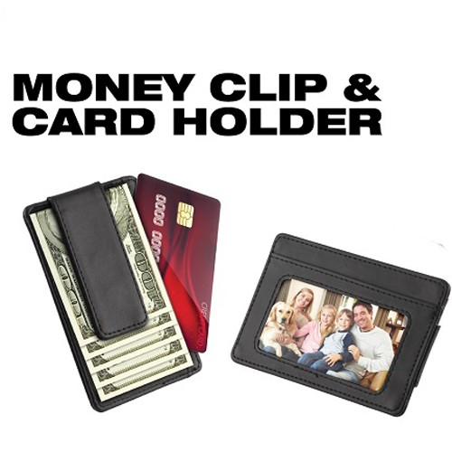 2 in 1 Money Clip with ID and Credit Card Holder