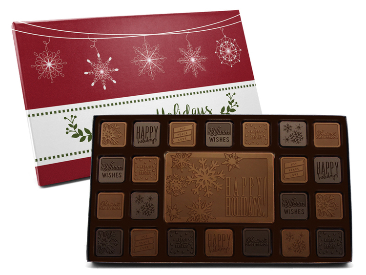 Happy Holidays 45-Piece Chocolate Assortment
