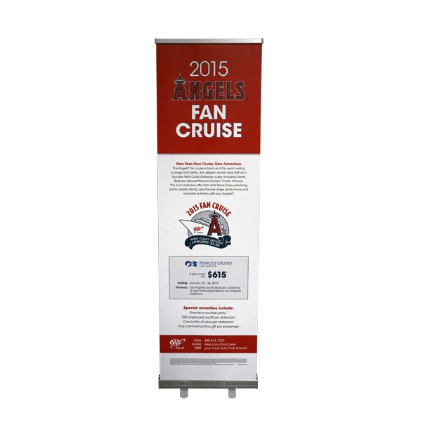 24x80 Economy Retractable Vinyl Banner Stand
