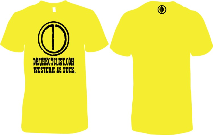 Drunk Cyclist Western as F*ck Yellow T-Shirt Ladies - DC WIAF Yellow T-Shirt NL 3600 Ladies