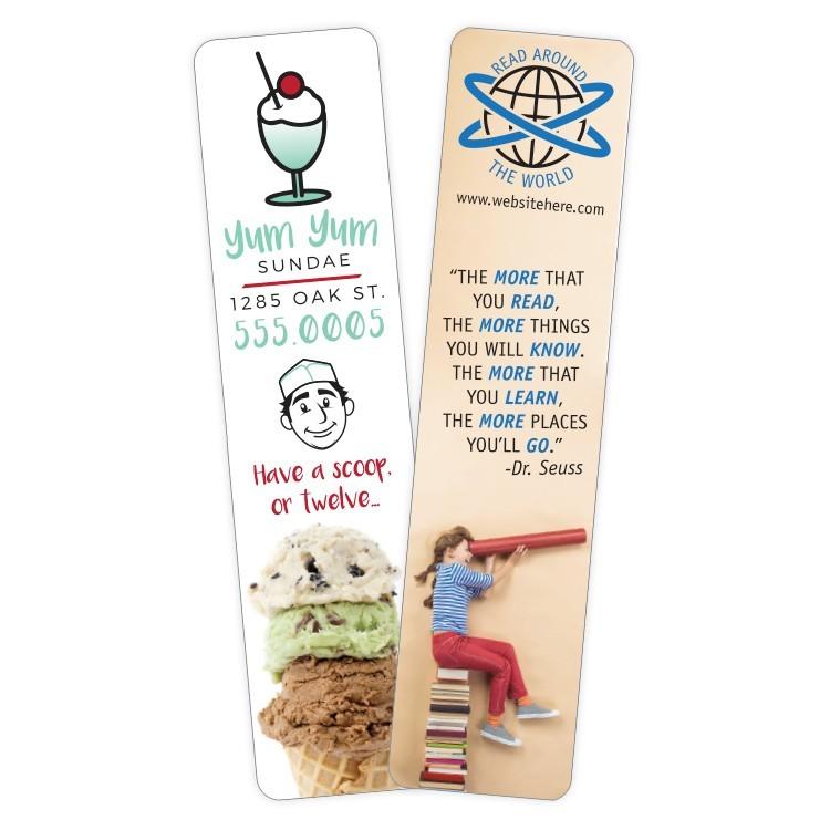 Plastic Bookmark - 1.5x6.25 Laminated - 30 pt.