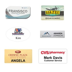 Digitally Printed Name Badge - Fast - USA Made Tags - Free Shipping