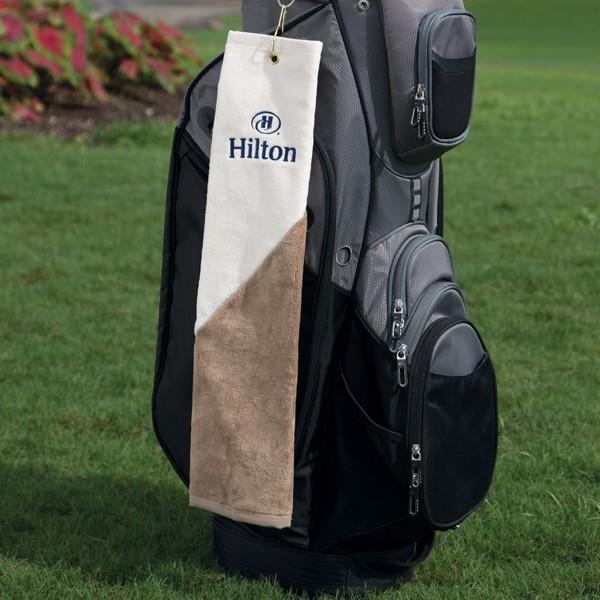 Two Tone Heavyweight Golf Towel