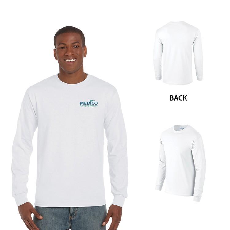 Gildan Ultra Cotton Classic Fit Adult Long Sleeve T-Shirt - 6 oz. - White