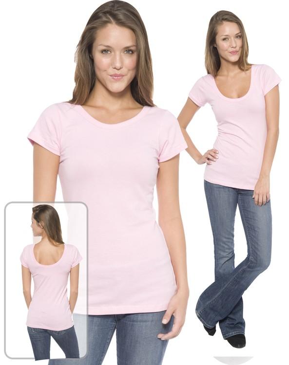 Juniors Reverse Scoop Neck Shirt