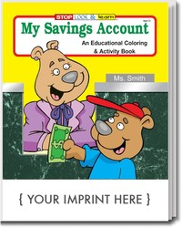 COLORING BOOK - My Savings Account Coloring & Activity Book