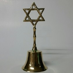 Brass Hand Bell with Brass Star on Top