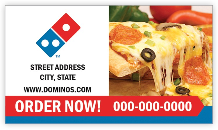 Domino's Pizza Business Card Magnet