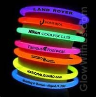 Glow Bracelet 6mm with attached connector Blank with optional logo available