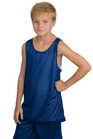 CLOSEOUT Sport-Tek Youth Reversible Mesh Tank.