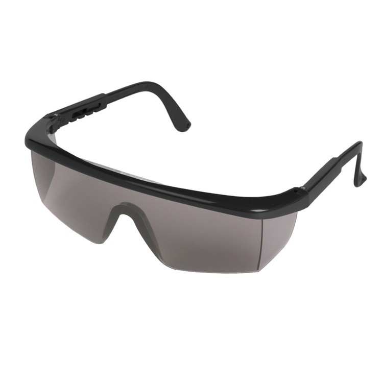 Sting-Rays Black Frame Safety Glasses (Smoke Lens)