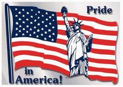 Stock Patriotic American Flag Static Decals
