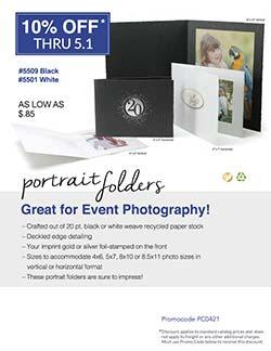 Portrait folder sales flyer from Warwick