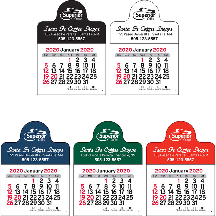 Small Circle Vinyl Adhesive Mini Stick Calendar