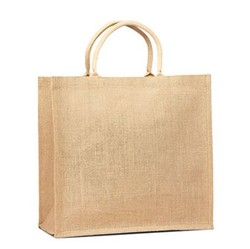 Jute Shopping Tote w/ Cotton Web Handle