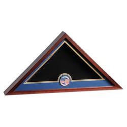 US Flag Medallion Flag Display Case