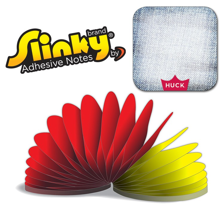 Slinky(R) Adhesive Notes - Square (Rounded Corners) - 100 Sheets