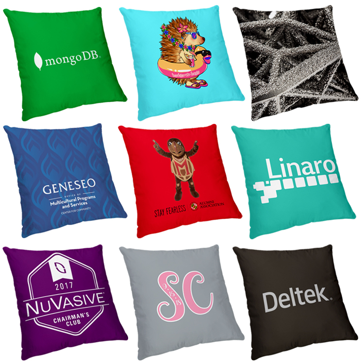 Small Sublimated Polyester Throw Pillow