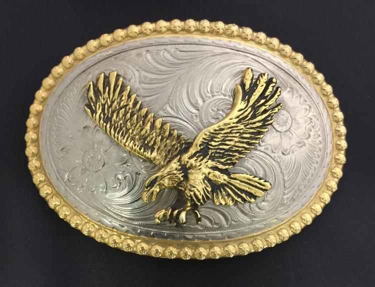 3.5 Antique Finish Custom Cast Belt Buckle