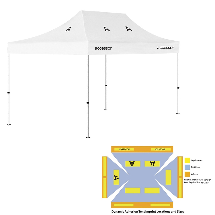 10' x 15' Pop Up Tent (Full-Color Dynamic Adhesion, 5 Locations Event Tent)