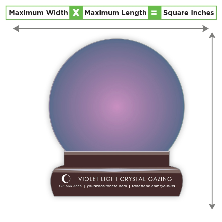 Custom Shape Magnet - 56.01 to 84 Square Inches - 20 Mil.