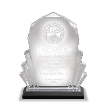 6x9 Inch Blue Faceted Impress Acrylic Trophy