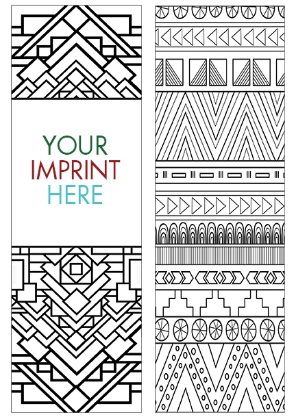 COLORING BOOKMARK - Patterns Bookmark
