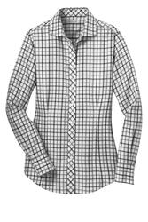 Red House Ladies Tricolor Check Non-Iron Shirt.