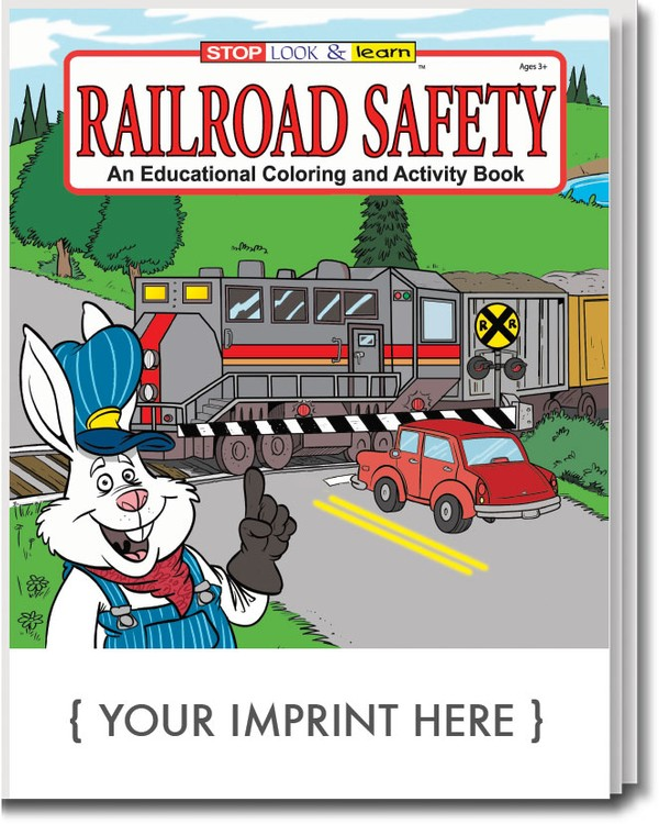 COLORING BOOK - Railroad Safety Coloring & Activity Book