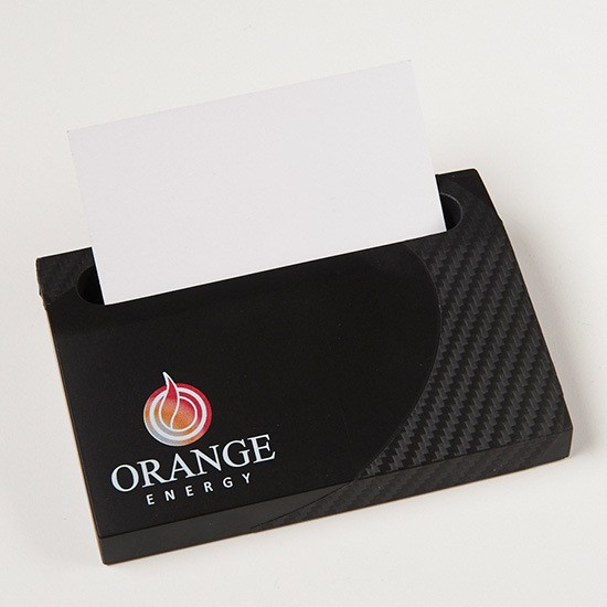 Carbon Fiber Textured Business Card Holder
