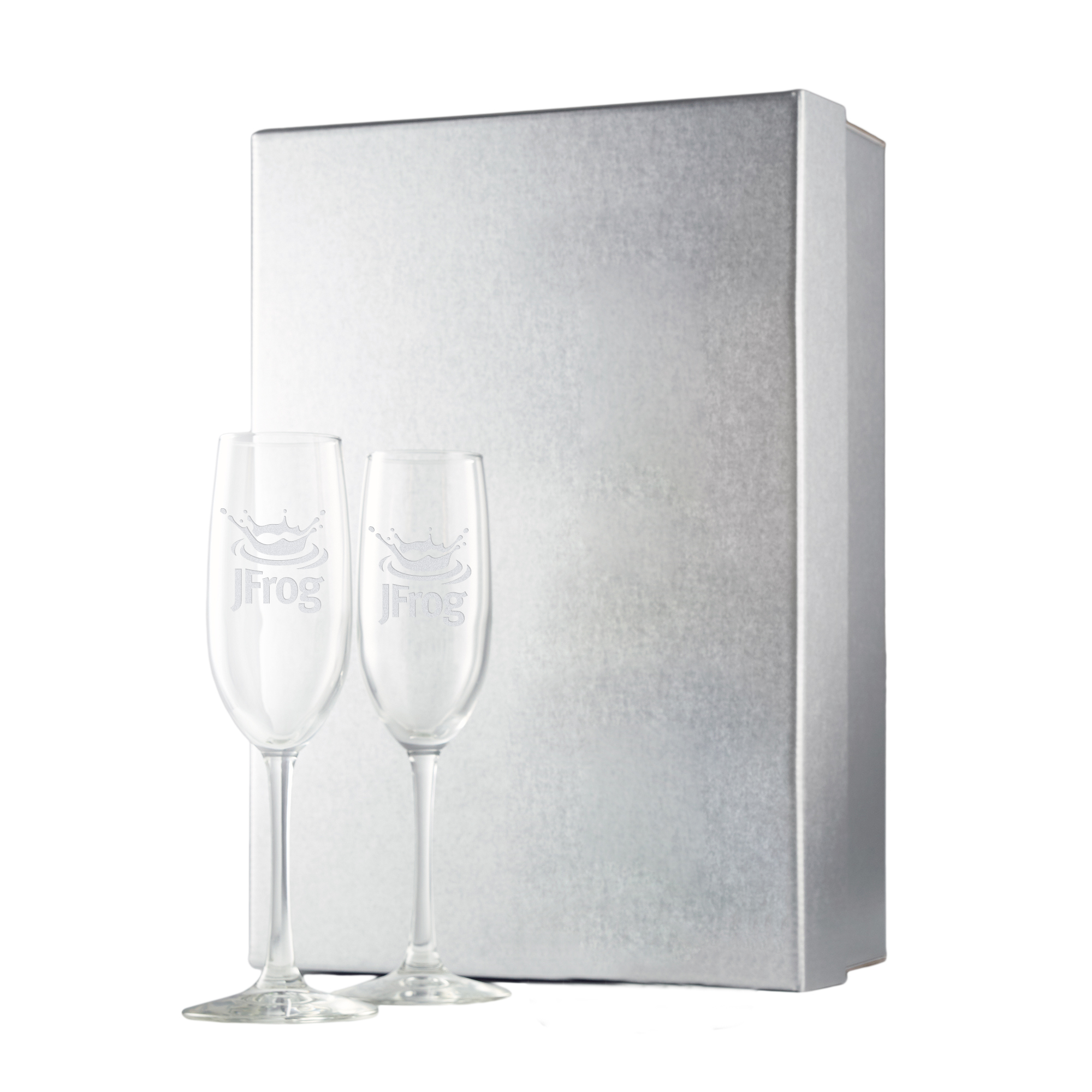 Silver Gift Box w/ Etched Flutes