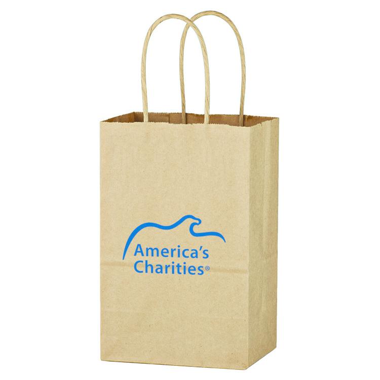 Kraft Paper Brown Shopping Bag - 5-1/4