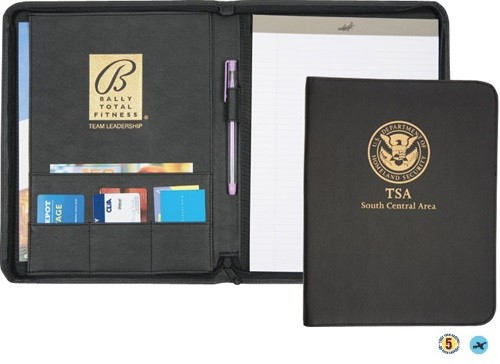 Business Essentials Zippered Padfolio / Pad Holder