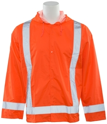 S373 Aware Wear ANSI Class 3 Hi-Viz Orange Oversized Raincoat (XL/2XL)