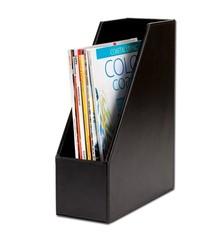 Black Econo Line Leather Magazine Rack