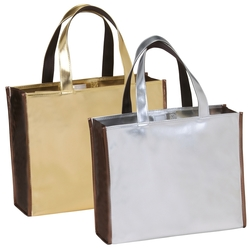 The Metallic Brilliant Shopper Tote