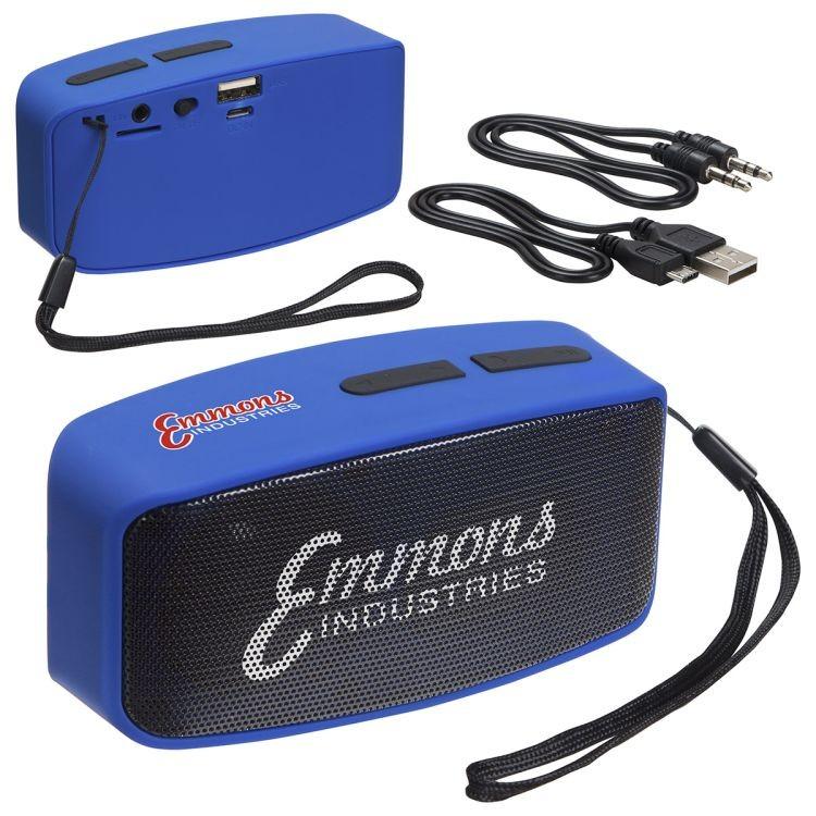 Sonic Sound Bluetooth Speaker with FM Radio & Mic