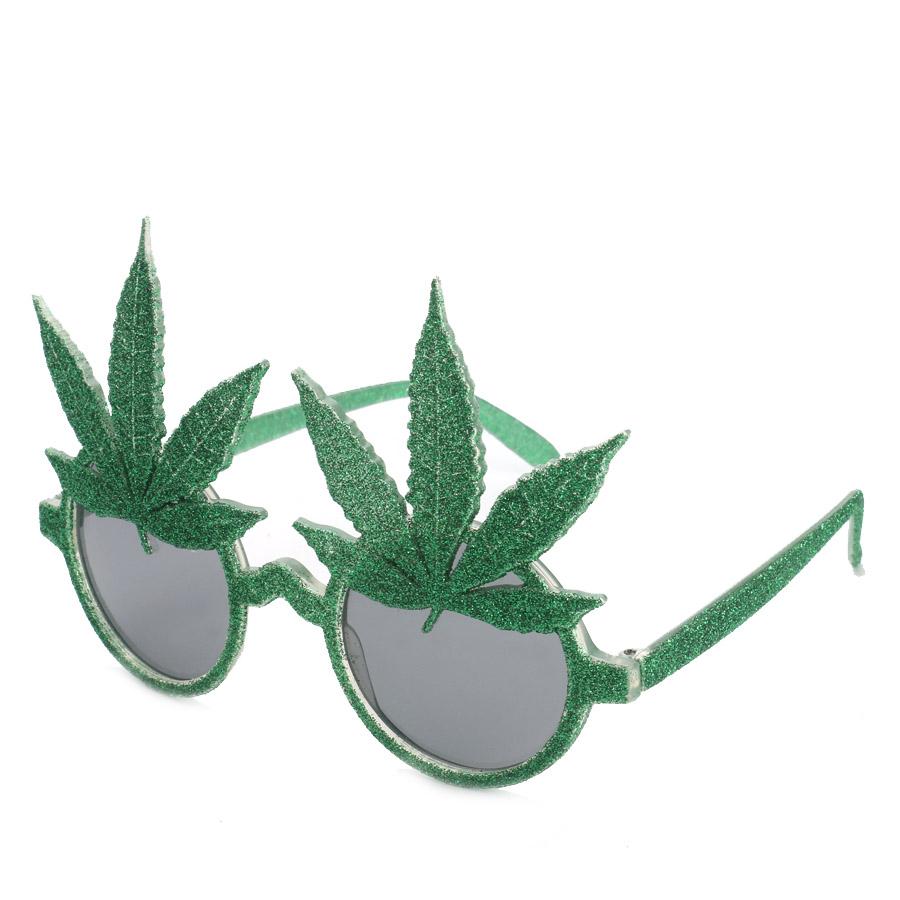 Loftus International Star Power Glitter Pot Leaf Round Lens Sunglasses