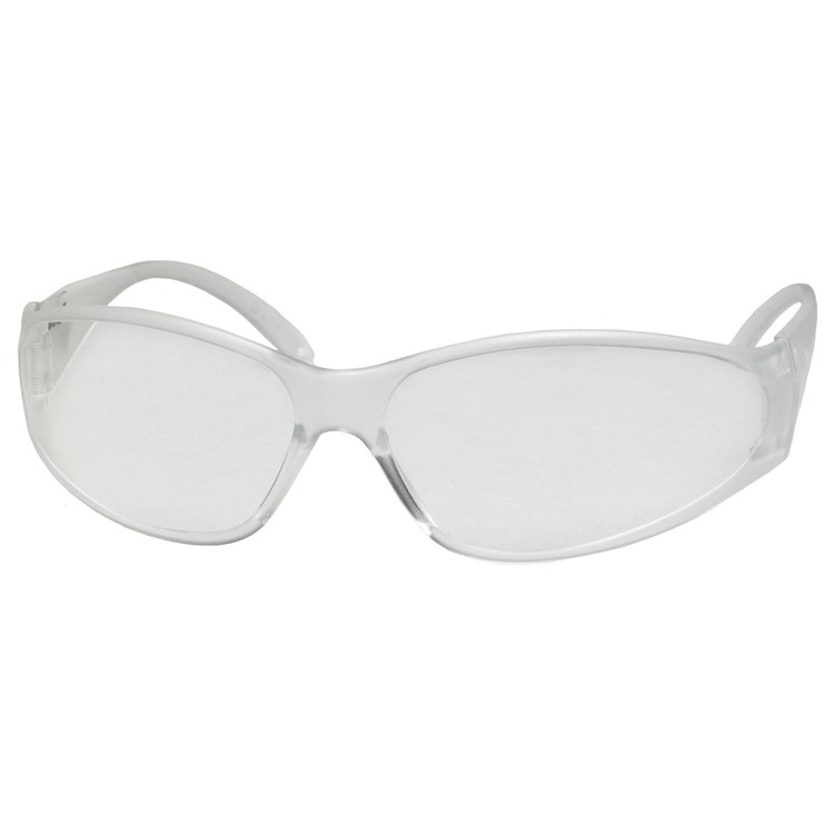 Economy Boas Uncoated Clear Frame/ Lens/ Temple Safety Glasses